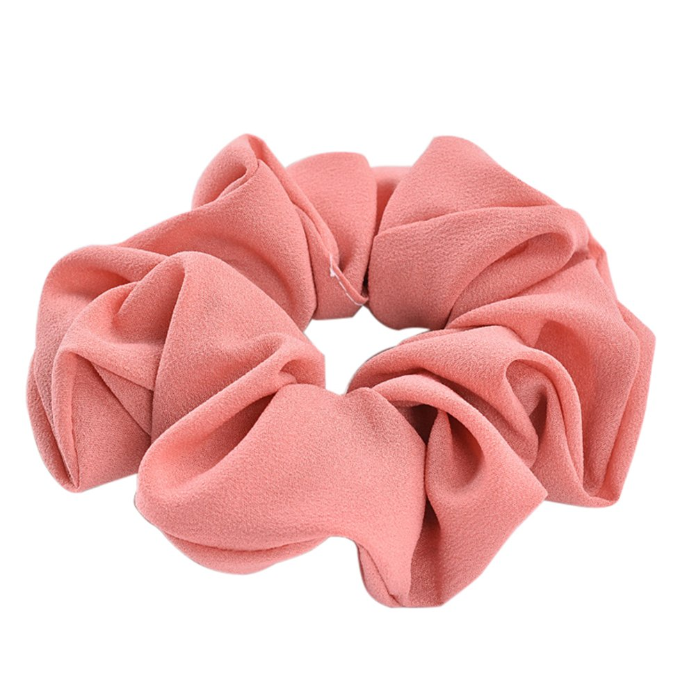 Large Hair Scrunchies Elastic Scrunchy Hair Bobbles Hair Band Ponytail Holder Cloth Pure Color Set of 8 Livecity
