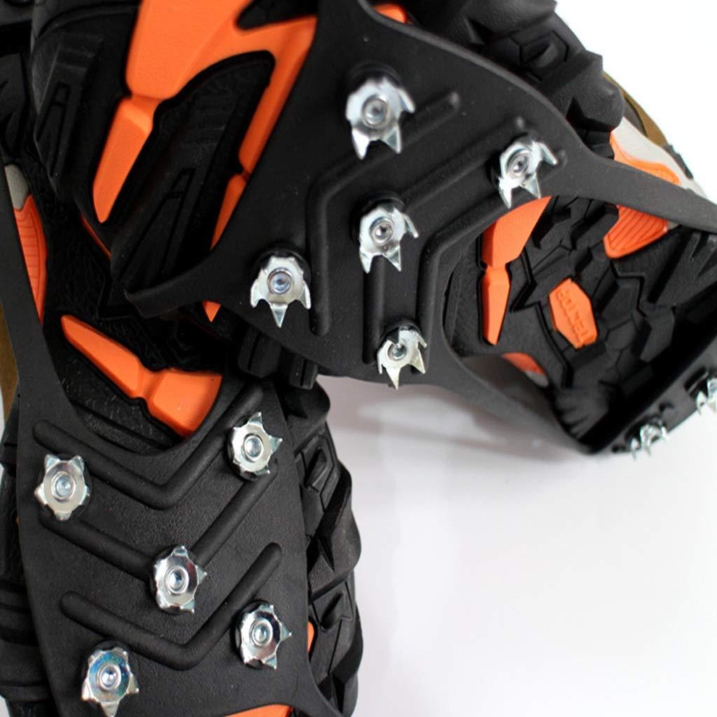 Ski equipment - crampons Crampones de Ocho Dientes, Zapatos Cubiertas de Zapatos Dientes, Antideslizantes Simples, Captura de Hielo, Hielo-Nieve, agarres Antideslizantes (Tamaño : L) 7c39fd
