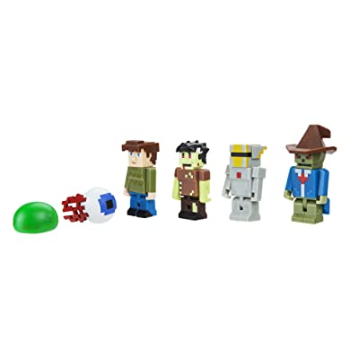 Terraria World Collector's 6 Pack Fully Articulated Action Figures Set Includes Silver Armor, Guide, Zombie, Tim, Demon Eye, Slime: Toys & Games