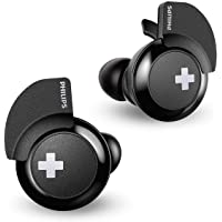 Philips Bass+ SHB4385 Bluetooth in-Ear Earbuds with Charging Case (Black)