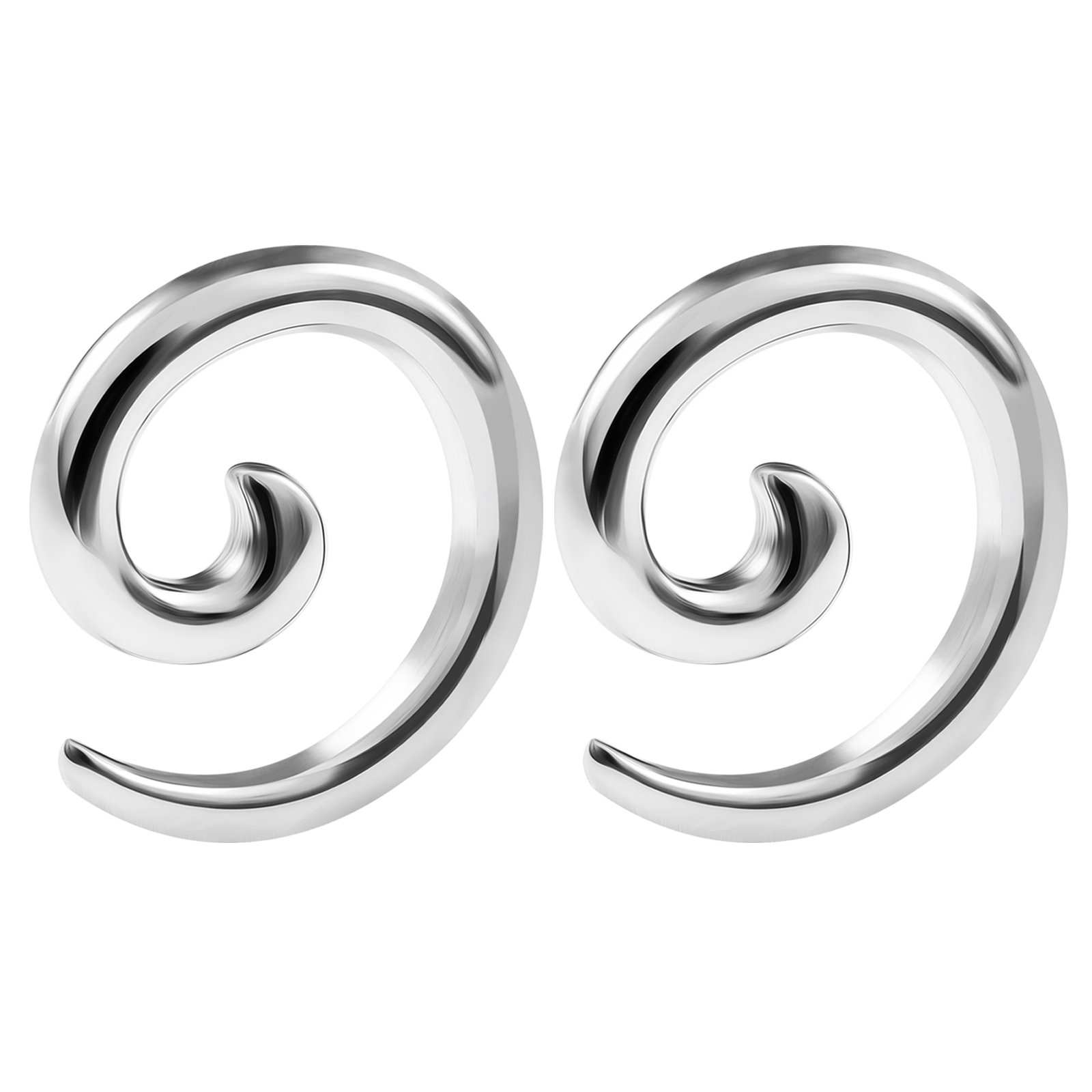 BIG GAUGES Pair Stainless Steel 8gauges 3 mm Taper Expander Ear Spiral Coil Piercing Jewelry Earring Piercing Stretching BG0914 by BIG GAUGES