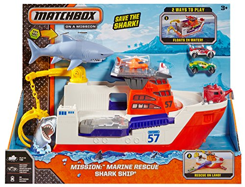 Shark Ship Toy : Matchbox mission marine rescue shark ship discontinued