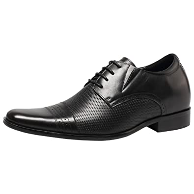 new styles 91b98 6ba77 CHAMARIPA Aufzug Männer Höhe Erhöhen Leder Oxford Schuhe Business Arbeit  Büro Hochzeit Schnürschuhe Unsichtbare Herren