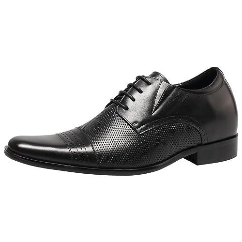 Chamaripa - Zapatos Planos con Cordones Hombre, Color Negro, Talla 39
