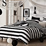 BENBU High-end fashion bedding Zebra black and white striped cotton boys and girls bedroom set four piece twin/Queen/King size bed four set