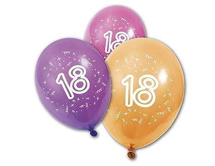 8 Globos de cumpleaños 18 años: Amazon.es: Juguetes y juegos