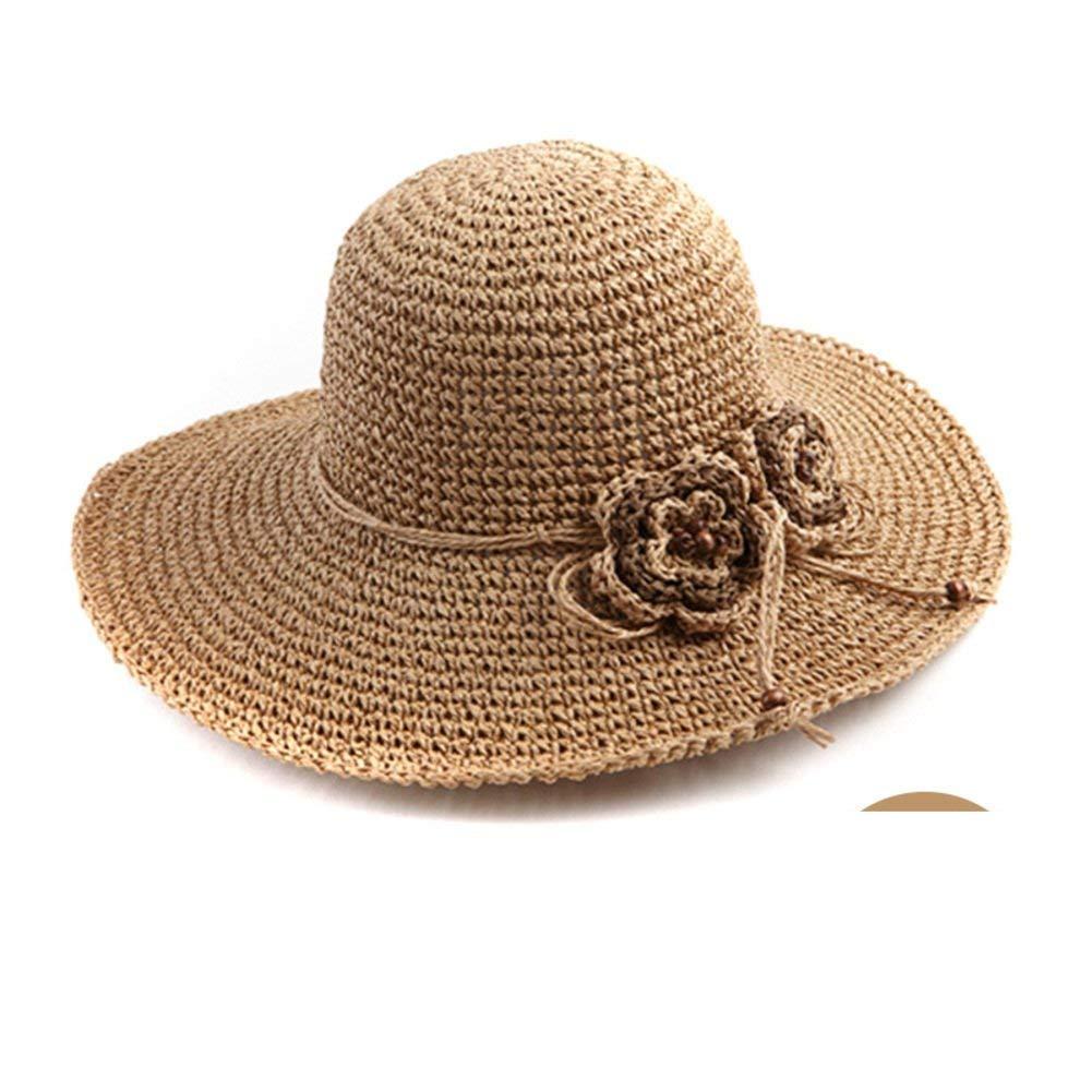 LTS 夏の麦わら帽子の韓国語バージョン麦わら帽子ビッグトリムSunhat クラシックキャップ One Size A B07NVP795Z