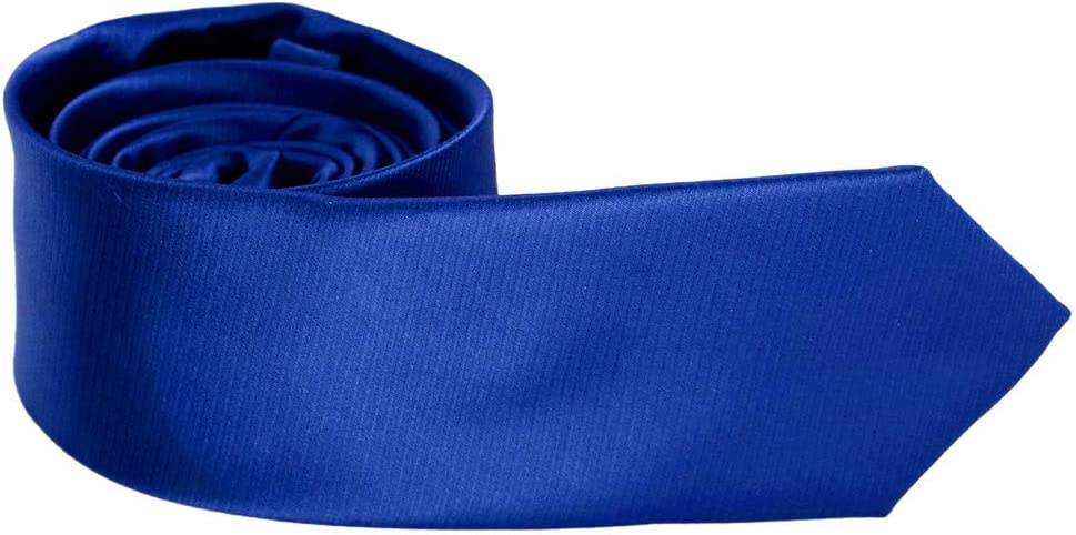 Epoint PS1009 Royal Blue Solid Skinny Tie Business Presents Slim Tie Gift Box