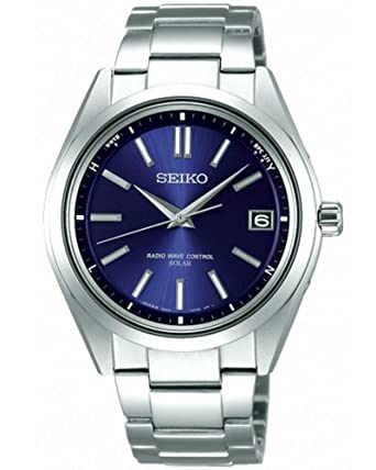 6491bc1eb3 SEIKO [セイコー] ブライツ ソーラー電波 腕時計 SAGZ081 ネイビー 国内正規 メンズ [並行輸入