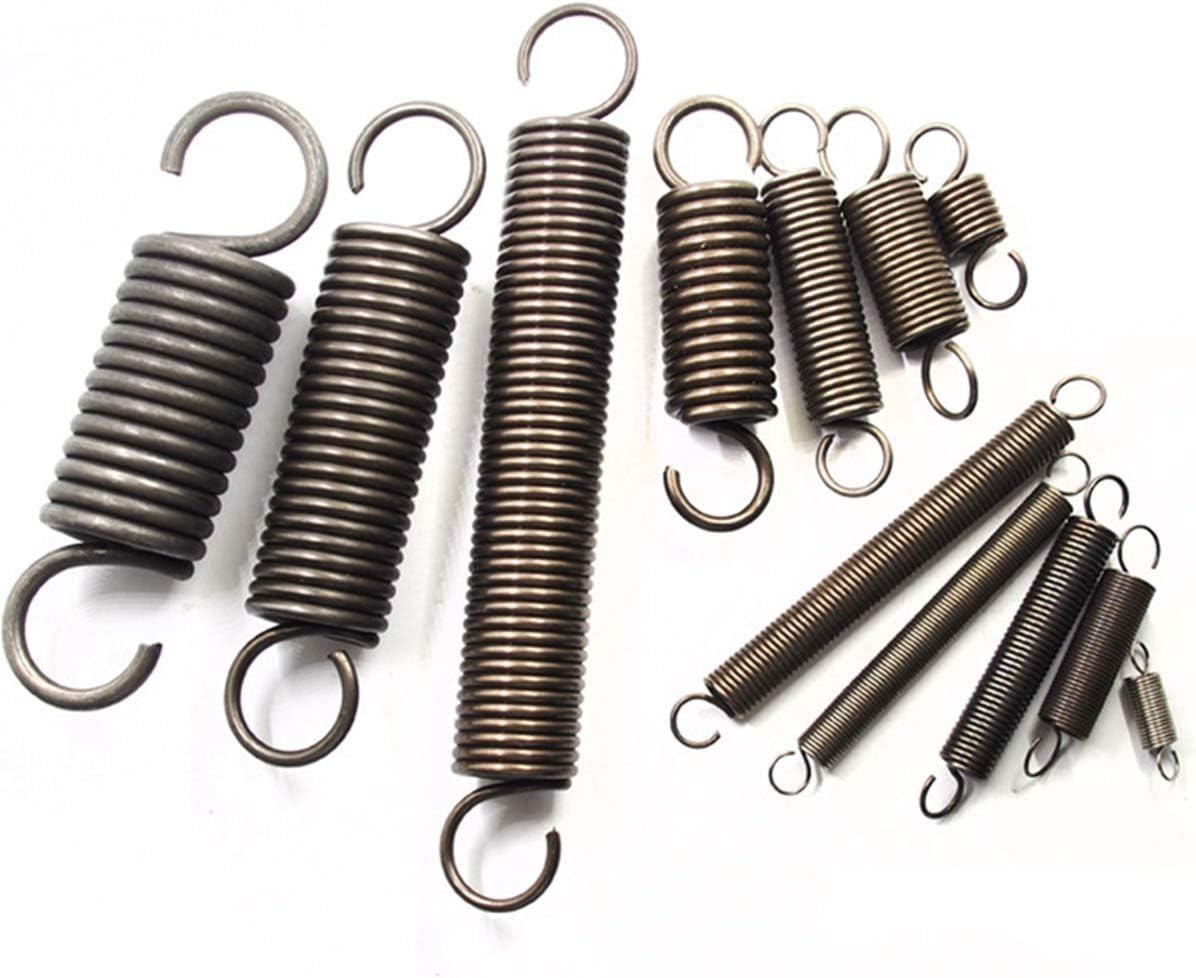Jienie 2pcs 1.4mm wire diameter 9mm outside diameter steel extension spring tension pull springs 80mm-160mm length Length: 1.4x9x150mm