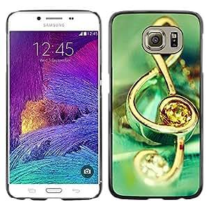 Be Good Phone Accessory // Dura Cáscara cubierta Protectora Caso Carcasa Funda de Protección para Samsung Galaxy S6 SM-G920 // Music symbol jewelry