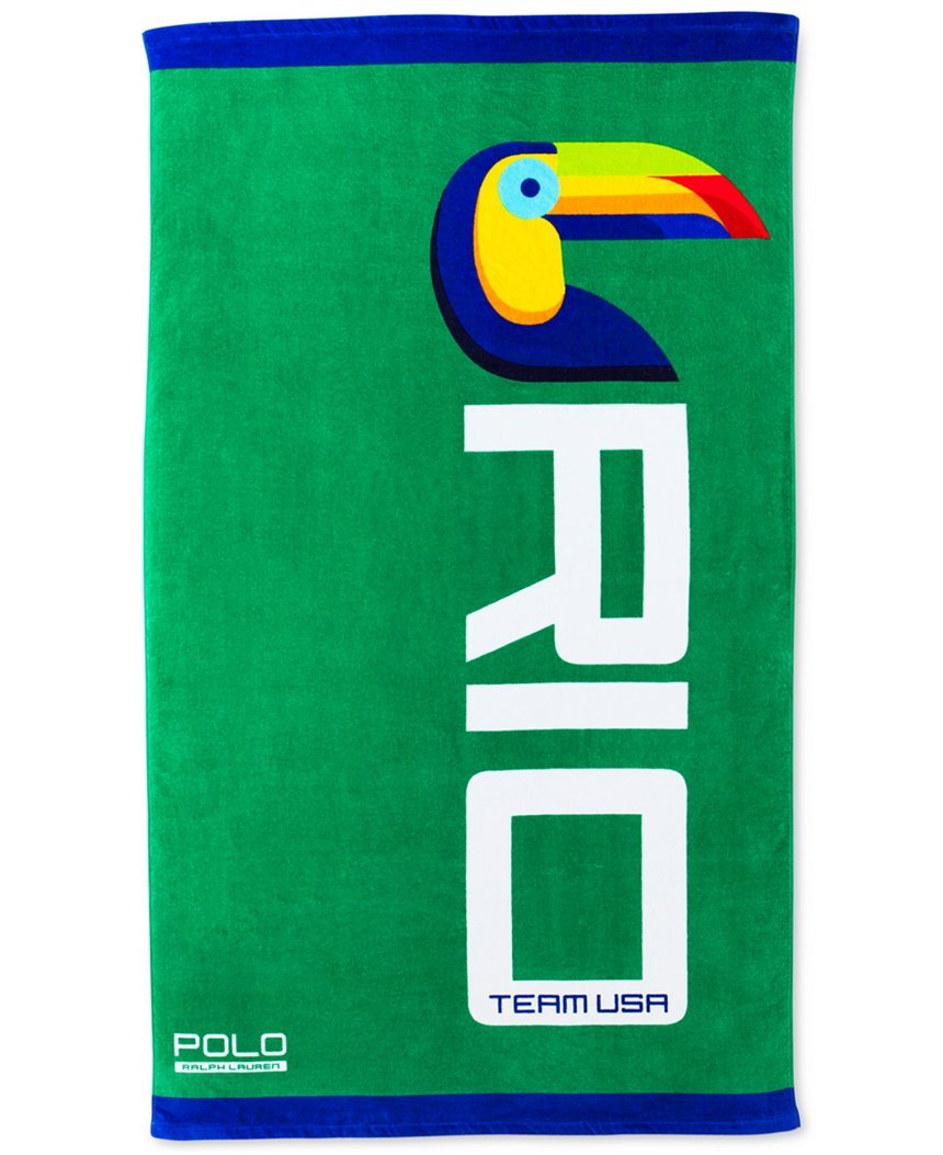 Ralph Lauren Polo Team USA Toucan Beach Towel-2016 Olympic Towel