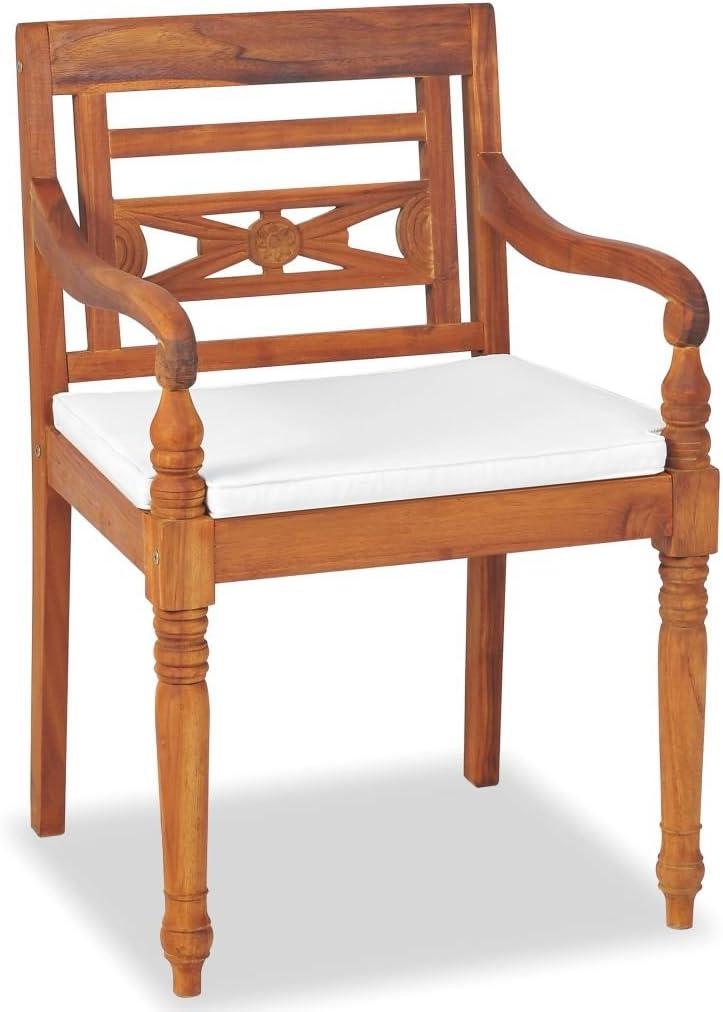 vidaXL Madera Maciza Teca Muebles de Jard/ín y Cojines Mobiliario de Exterior