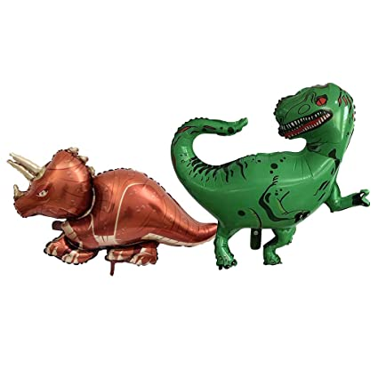 FLAMEER 4pcs Globos Dinosaurio Fiesta Decoracion Juguetes ...