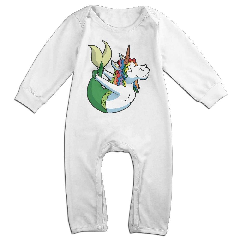 Amazon.com: Baby Girls Round Collar Yoga Mermaid Unicorn ...