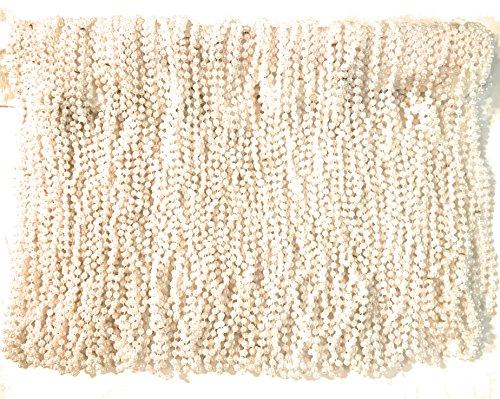 The Mardi Gras Krewe Mardi Gras Beads 33 inch 7mm, 10 Dozen, 120 Pieces (White Pearl)]()