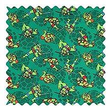 SheetWorld Ninja Turtles Shells Fabric - By The Yard - 101.6 cm (44 inches)