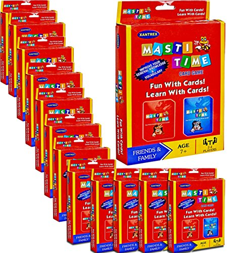 Buy Masti Time Educational Flash Card Game 12 Games Party Pack For Return Gifts On Kids Birthday