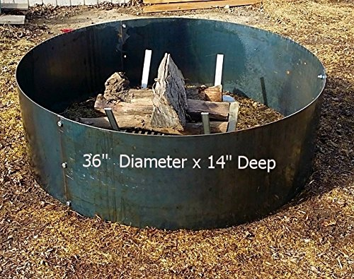36'' Diameter x 14 Deep''Steel Metal Fire Pit Ring Liner Insert by Higley Fire Pit Rings