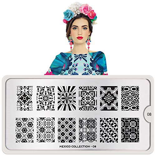 MoYou-London Nail Stamping Plate Mexico Collection 08 Shipping within 24h US Stock