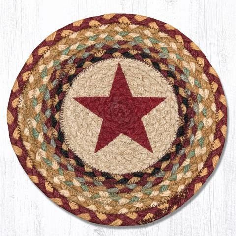 Earth Rugs TS-357BS-4 Set of Trivets, 10''x10'', Red by Earth Rugs