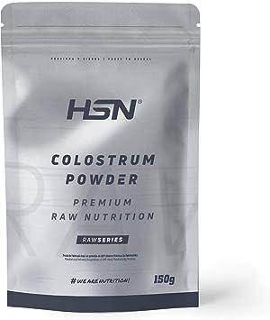 Calostro en Polvo de HSN | Más del 30% de IgG (Inmunoglobulinas) Activa | Refuerzo Sistema Inmunológico, Fuente de Proteína | Vegetariano, Sin Gluten, ...