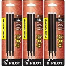 Pilot Gel Ink Refills for FriXion Erasable Gel Ink Pen, Fine Point, Black Ink, Pack of 9 (77330)