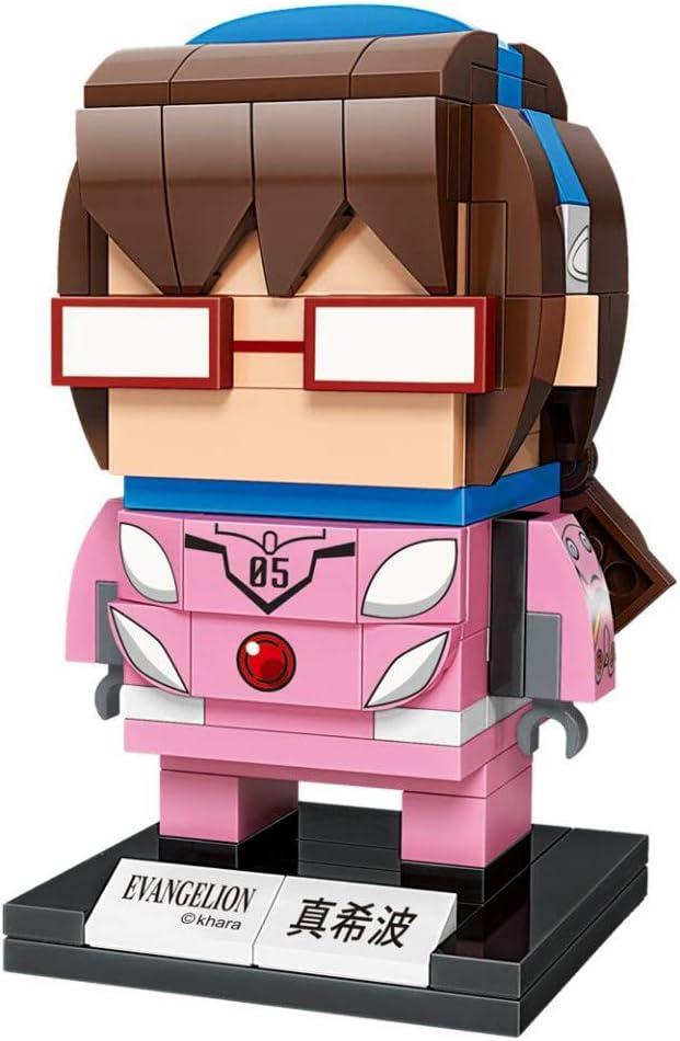 KEEPPLEY Neon Genesis Evangelion Makinami Mari Illustrious Figure Set (Bricks Building Kit) Japanese Anime Q Posket Evangelion EVA 3D Model kit Collectible Construction Toy