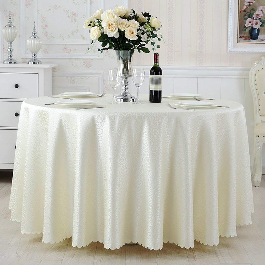 QYM 家庭用テーブルクロス、コーヒーテーブルテーブルクロス、長方形ダイニングテーブルウェディング宴会レストランホテルラウンドテーブルクロスカスタマイズ可能サイズオプション、レストランテーブルクロス (Color : Round-320cm)  Round-320cm B07SNBPBJF