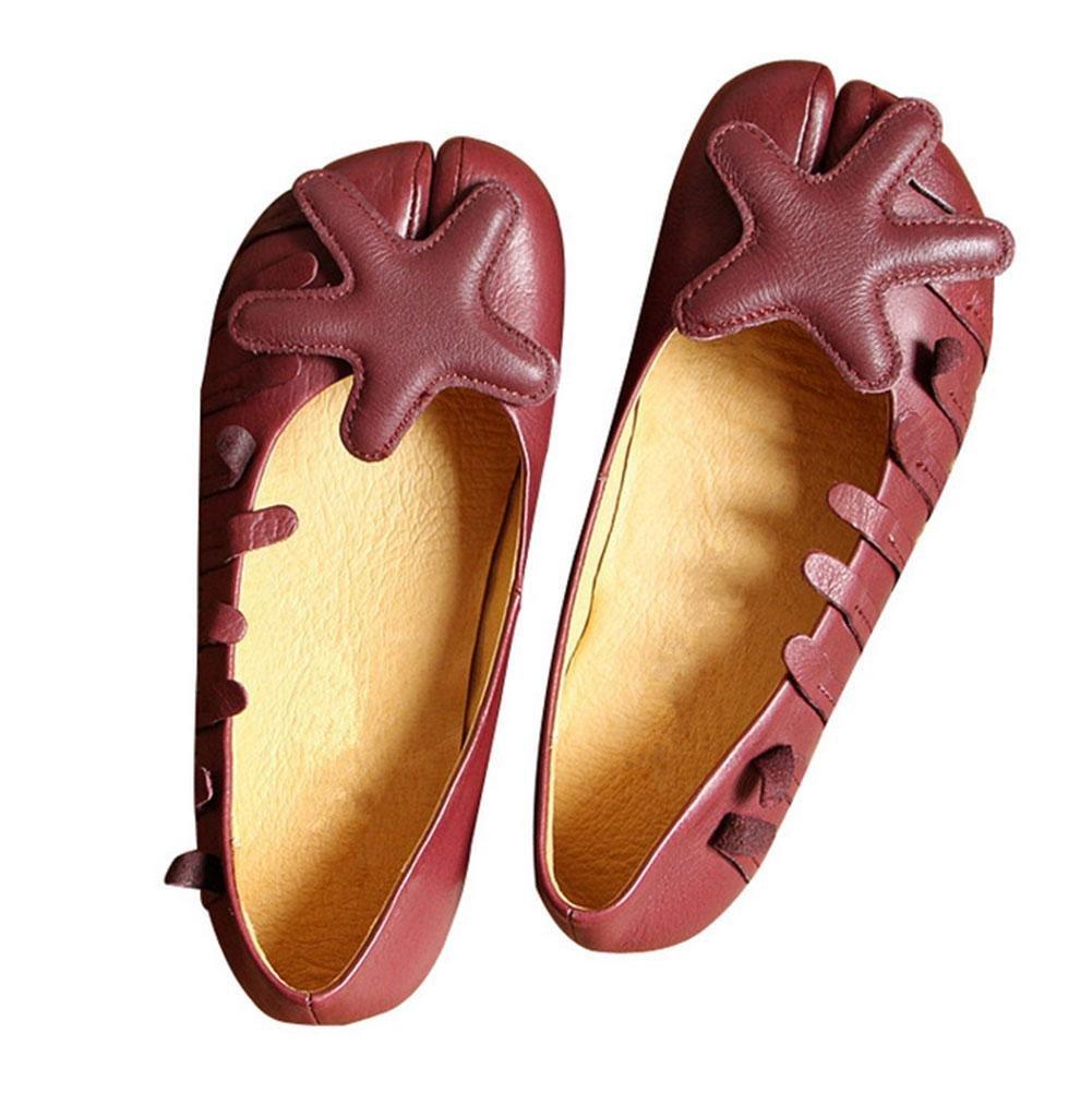 MEILI Retro solos zapatos individuales dedo del pie de las mujeres zapatos de punta suave de cuero suave , US6.5-7 / EU37 / UK4.5-5 / CN37 US6.5-7 / EU37 / UK4.5-5 / CN37