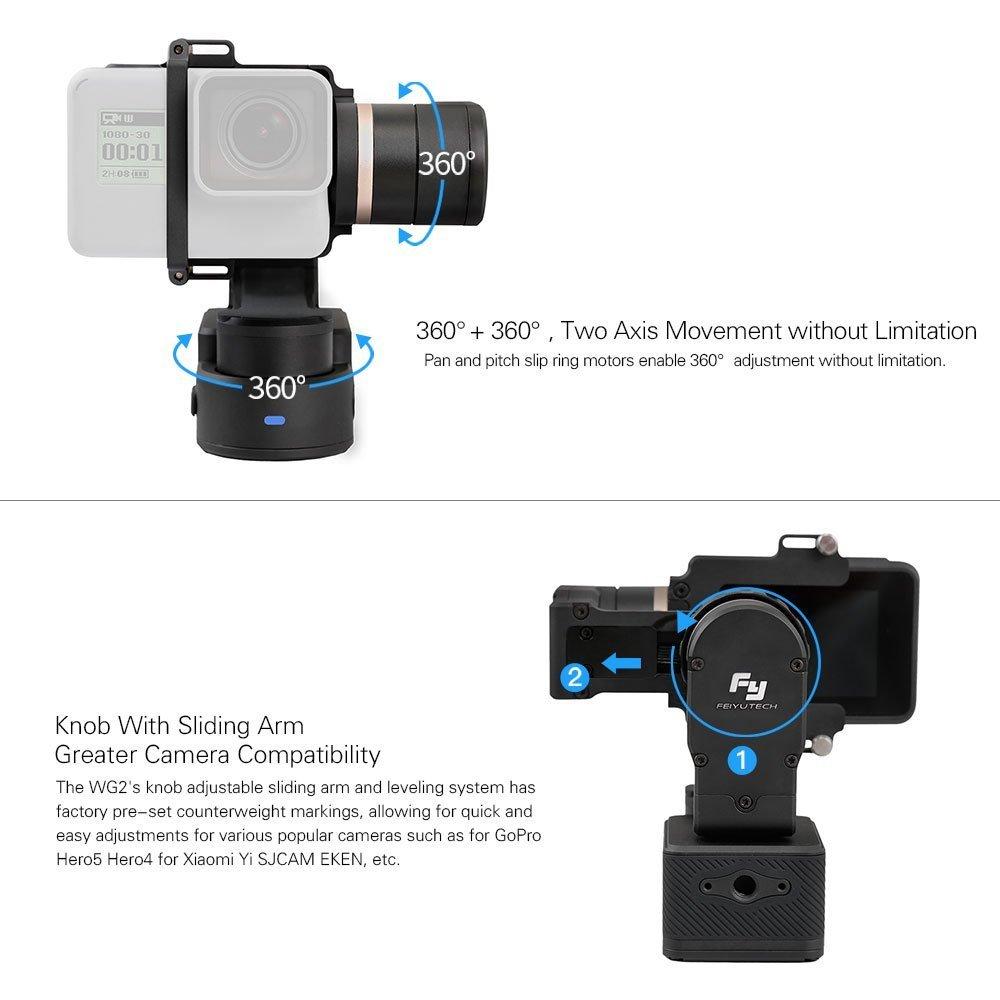 Feiyu WG2 Actualiza cardán de 3 ejes portátil impermeable para GoPro Hero5/ GoPro HERO4/período de sesiones y cámaras: Amazon.es: Electrónica