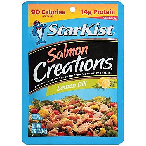 Dill Salmon - Starkist Tuna Salmon Creations Lemon Dill ~ 2.6 oz ~ set of 6
