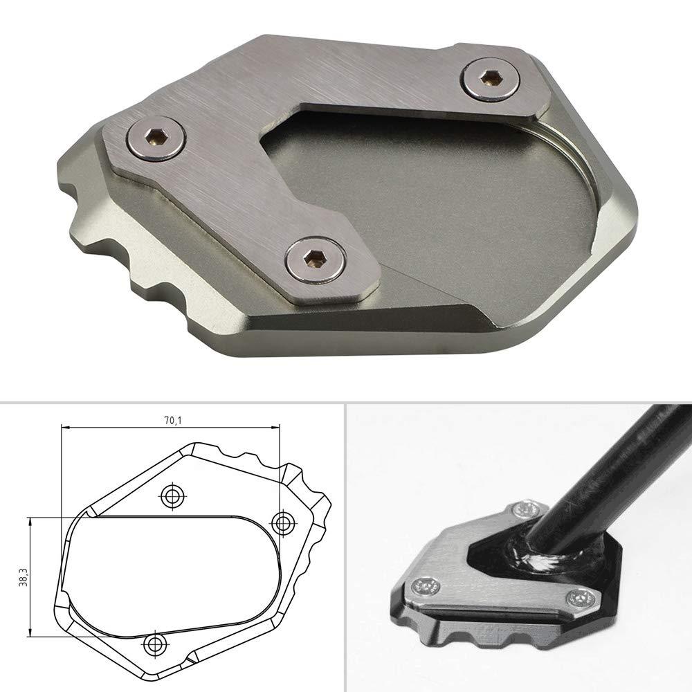 H2Racing CNC Motociclo pad estensione supporto cavalletto laterale per B-M-W R 1200 GS LC 2013-up,Prolunga adatta a 70,1 x 38,3 mm