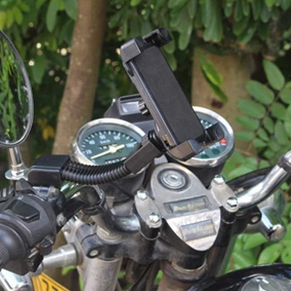 CDKJ Motorrad Telefon Halterung Universal-Handy-Halter-Halterung f/ür Motorrad-Roller-Motorrad-St/änder Installieren auf Handelbar Spiegelfu/ß Schwarz
