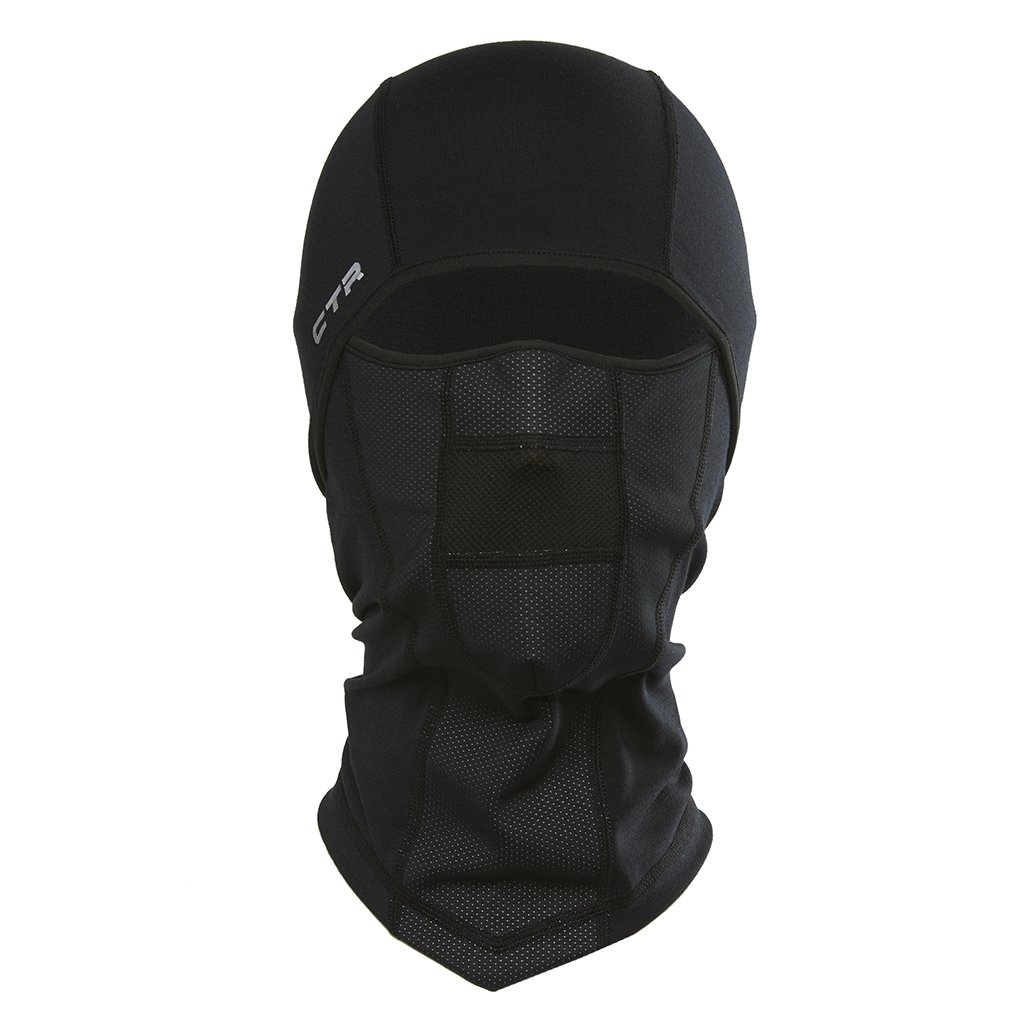 Chaos-CTR 11G3-1633 CTR Adrenaline Dri Release Multi Tasker Pro Balaclava with Windproof Face Insert and Hinged Construction (Black)