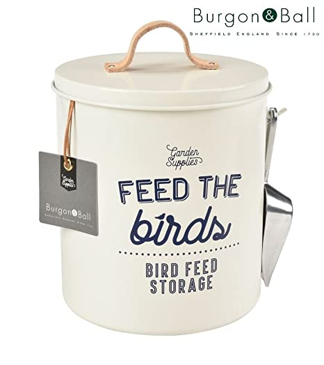 Burgon u0026 Ball Bird Food Storage Tin Stone Cream with Scoop and Leather Handle  sc 1 st  Amazon.com & Amazon.com : Burgon u0026 Ball Bird Food Storage Tin Stone Cream with ...