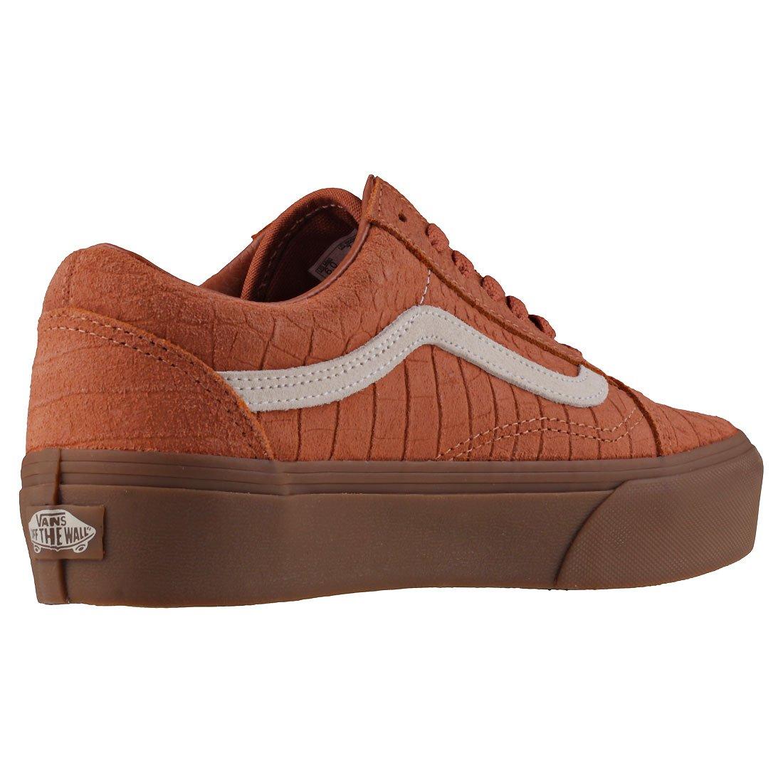Vans Old Skool Platform Damen Sneakers Tan Gum 8 UK