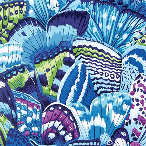 Natural World Butterfly Wing by Snow Leopard Designs Free Spirit Fabric 100% Cotton Quilt Fabric PWSL038-Lagoon
