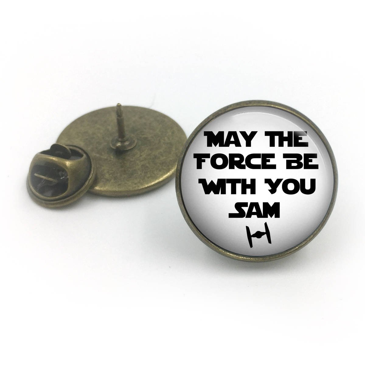 Bronce antiguo Force Be With You Pin de solapa personalizado de ...