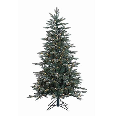 Prugist Holiday Cheer Collection 5' Crystal Frosted Balsam Fir Artificial  Christmas Tree with 300 Clear - Amazon.com: Prugist Holiday Cheer Collection 5' Crystal Frosted