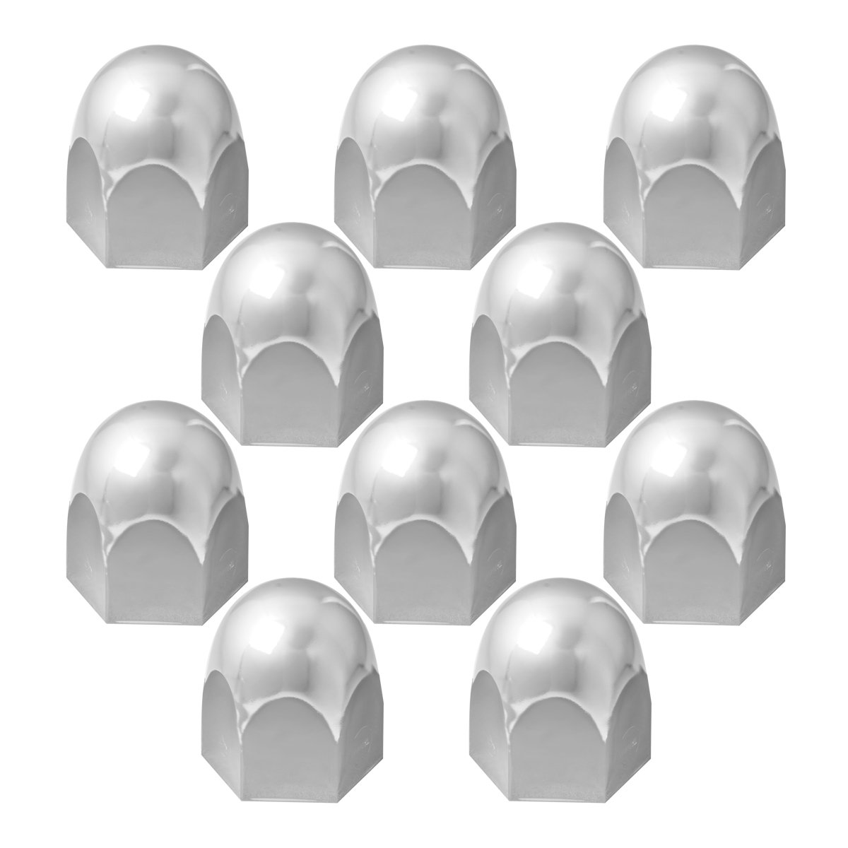Grand General 10265SP Chrome 33mm x 3 Steel Bullet Push-On Nut Cover with Flange