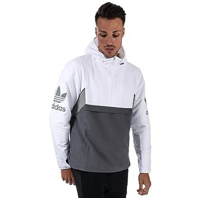 adidas Originals - Sudadera con Capucha - para Hombre Blanco Blanco X-Large: Amazon.es: Ropa y accesorios
