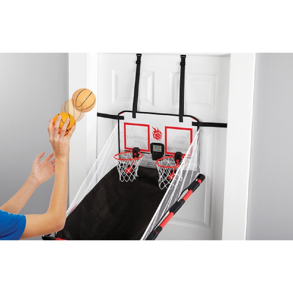 2-Player \ Arcade-Style\  Over-the-Door Basketball Hoops Game Set with Built-in Sound Effect and Electronic LED Scoreboard Black/ Red Finish  Sports \u0026 ...  sc 1 st  Amazon.com & Amazon.com : NEW!! 2-Player \