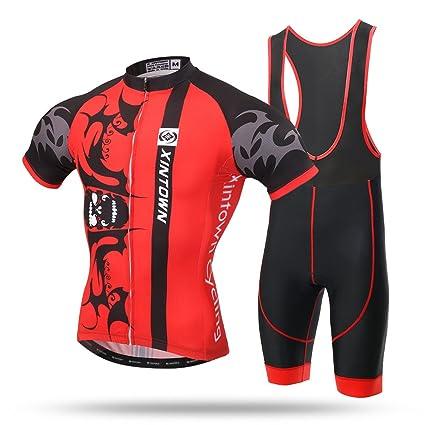 Xintow Men s Cycling Jersey Bike Bicycle Short Sleeve Cycle Clothing Wear  Bib Shorts Racing Skinsuits Shirts 56c014802