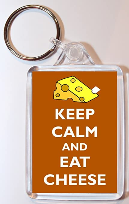 Keep Calm And Eat queso - doble cara llavero grande regalo ...