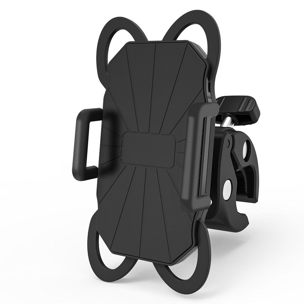 Delicacy Handyhalterung Fahrrad,Anti-Shake Motorrad Handy-Halter, 360 Grad Rotation Silikon Handyhalterung fü r iPhone X 8 Plus 7 Plus 6S Plus Samsung S9 Plus S8 Plus S7 S6 GPS MP4 Player, 3,5-6,3 Zoll Shenzhen DELICACY Technology Co. Ltd