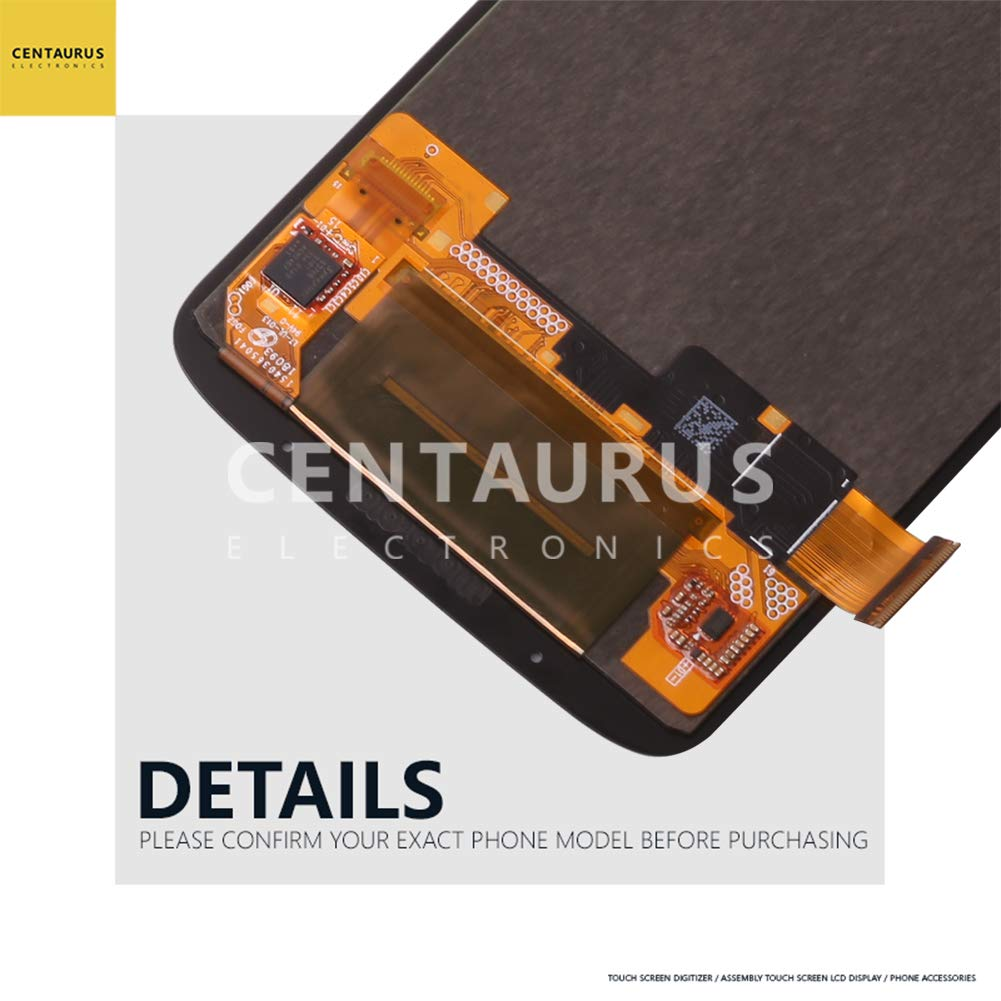 CENTAURUS Replacement for Moto Z3 Play Assembly LCD Display Touch Screen Digitizer Part Compatible with Motorola Moto Z3 Play XT1929-1 XT1929-3 XT1929-4 XT1929-5 XT1929-6 /6M/ 8/15/ 17 (NO Frame)