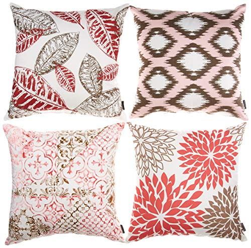 Phantoscope New Living Series Decorative Throw Pillow Case Cushion Cover Red 18