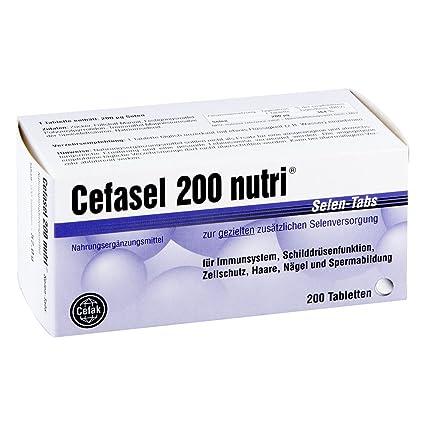 Cefasel 200 nutri telurio aquí tabletas 200 unidades: Amazon ...