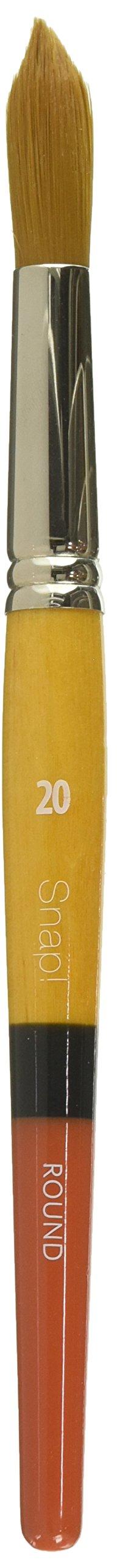 Princeton Snap! 9650R-20 Snap Brush Taklon, Gold by Princeton Snap!